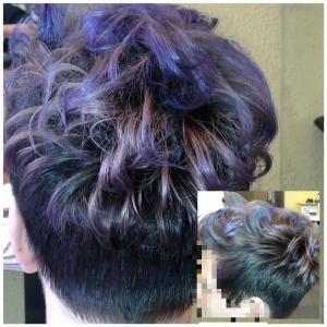 Haarschnitt-Haarfarbe